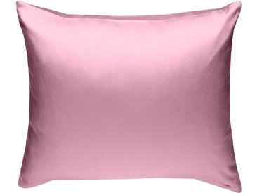 Mako Satin Kissenbezug uni rosa 50x50 cm