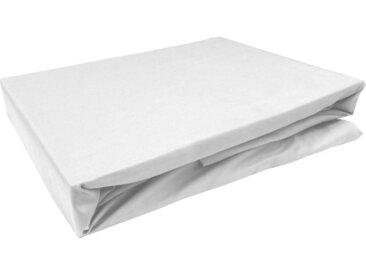 Mako Satin Spannbettlaken weiß 90x200 cm