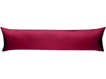 Mako Satin Seitenschläferkissenbezug uni pink 40x145 cm