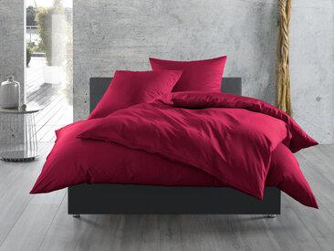 Mako Satin Bettwäsche uni pink 155x200