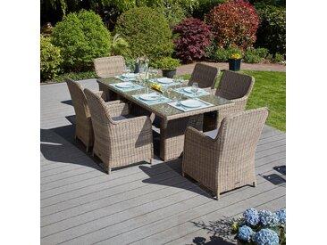 Gartenmöbel-Set / Sitzgruppe 'Ria', Braun