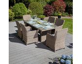 Garten Sitzgruppe Ria - 13-tlg., Poly Rattan, Braun
