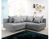 Ecksofa Clovis Grau Flachgewebe Ottomane Rechts Modulsofa, Design Ecksofas, Couch Loft, Modulsofa, modular