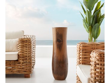 DELIFE Vase Bayani 75x23 cm Kokosnuss Natur Massivholz, Dekoartikel