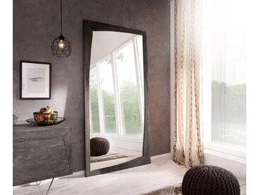 DELIFE Design-Wandspiegel Wyatt 200x100 cm Akazie Platin, Spiegel
