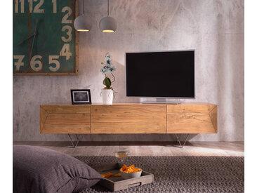 DELIFE Designer-Lowboard Wyatt 175 cm Akazie Natur 2 Türen 1 Klappe, Fernsehtische