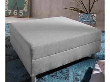 DELIFE Hocker Clovis Grau B98 x T83 Grau Modul Flachgewebe, Design Hocker, Couch Loft, Modulsofa, modular