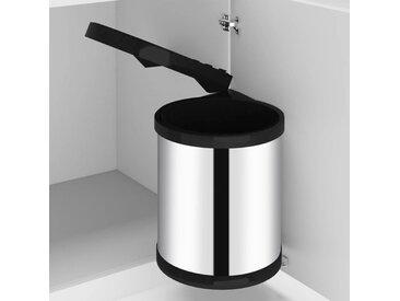 vidaXL Küchen-Einbau-Mülleimer Edelstahl 12 L
