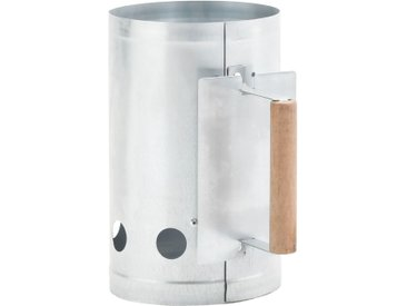 vidaXL Anzündkamin für Holzkohlegrill Verzinkter Stahl