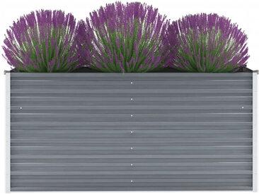 vidaXL Garten-Hochbeet Verzinkter Stahl 160x40x77 cm Grau