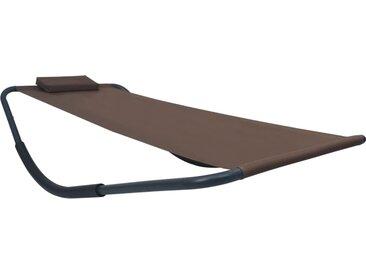 vidaXL Gartenbett Braun 200 x 90 cm Stahl