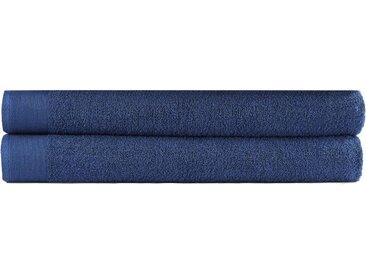 vidaXL Saunatuch-Set 2-tlg. Baumwolle 450 g/m² 80x200 cm Marineblau
