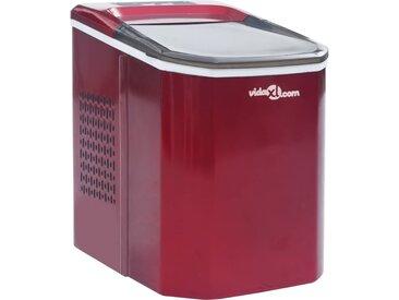 vidaXL Eiswürfelbereiter Rot 1,4 L 15 kg / 24 h