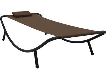 vidaXL Gartenbett Braun 200×90 cm Stahl