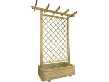 vidaXL Pergola mit Pflanzkasten 162x56x204 cm Holz