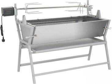 vidaXL BBQ Grill mit Drehspieß Eisen und Edelstahl