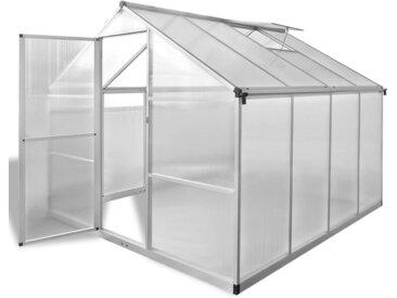 vidaXL Verstärktes Gewächshaus Aluminium 6,05 m²