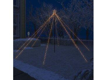 vidaXL LED-Lichterkette Weihnachtsbaum Indoor Outdoor 576 LEDs 3,6 m
