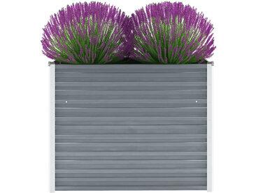 vidaXL Garten-Hochbeet Verzinkter Stahl 100x40x77 cm Grau
