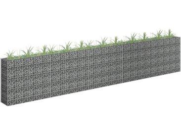 vidaXL Gabionen-Hochbeet Verzinkter Stahl 450×30×90 cm