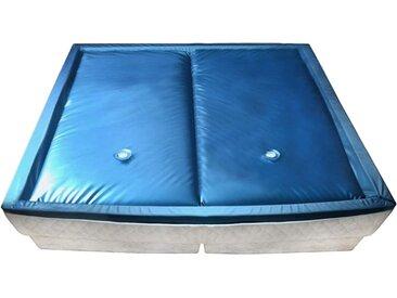 vidaXL Wasserbettmatratzen-Set mit Einlage + Trennwand 200 x 200 cm F3