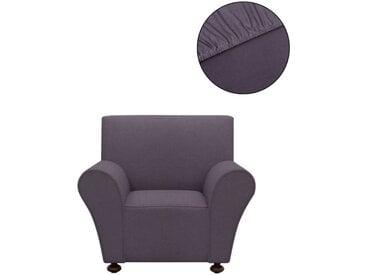 vidaXL Sofahusse Stretchhusse Sofabezug Anthrazit Polyester Jersey