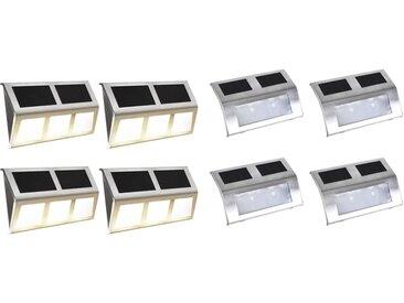 vidaXL Solarlampen-Set 8-tlg. LED Lichter