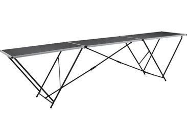 vidaXL Tapeziertisch Klappbar MDF und Aluminium 300×60×78 cm