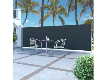 vidaXL Ausziehbare Seitenmarkise 160 x 500 cm Schwarz
