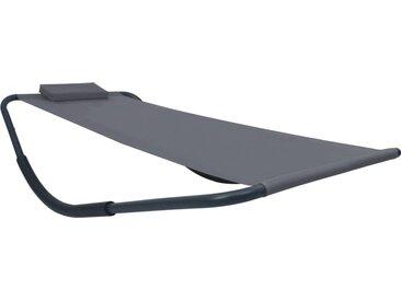 vidaXL Gartenbett Grau 200 x 90 cm Stahl