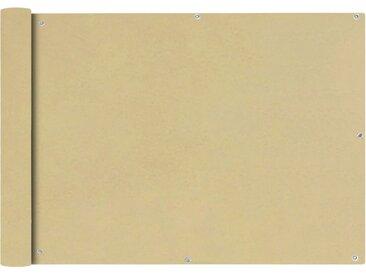 vidaXL Balkonsichtschutz Oxfordgewebe 75x600 cm Beige