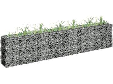 vidaXL Gabionen-Pflanzkorb Verzinkter Stahl 270×30×60 cm