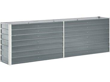 vidaXL Garten-Hochbeet Verzinkter Stahl 240×40×77 cm Grau
