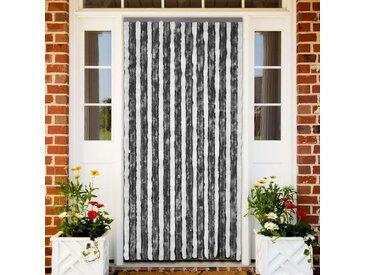 vidaXL Insektenschutz-Vorhang Grau und Weiß 100x220 cm Chenille