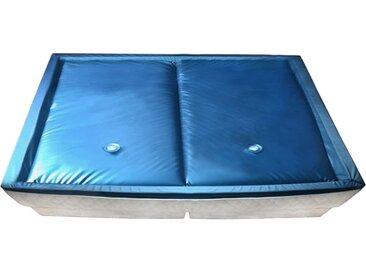 vidaXL Wasserbettmatratzen-Set mit Einlage + Trennwand 200 x 220 cm F5