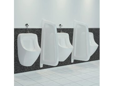vidaXL Urinal Trennwand Wandmontage Keramik Weiß
