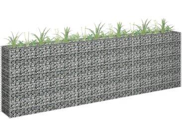 vidaXL Gabionen-Hochbeet Verzinkter Stahl 270 x 30 x 90 cm