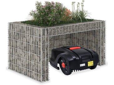vidaXL Rasenmäher-Garage mit Hochbeet 110x80x60 cm Stahldraht