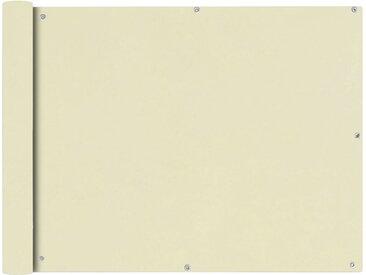 vidaXL Balkonsichtschutz Oxfordgewebe 90x400 cm Creme