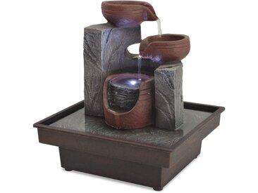 vidaXL Zimmerbrunnen mit LED Polyresin