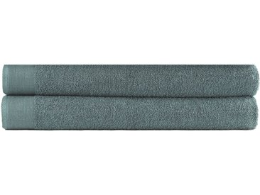 vidaXL Saunatuch-Set 2-tlg. Baumwolle 450 g/m² 80x200 cm Grün
