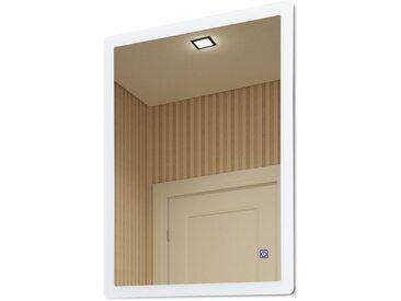 Kleankin Badezimmerspiegel mit Beleuchtung silber