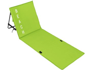 Tectake Strandmatte mit verstellbarer Lehne grün
