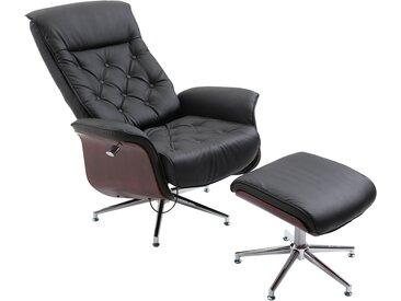Homcom Chesterfield Sessel mit Hocker schwarz