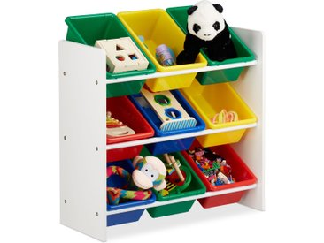 Relaxdays Kinderregal mit Regalboxen