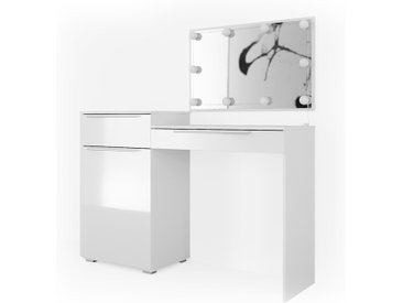 Vicco Schminktisch Little Lilli Frisiertisch Kommode Frisierkommode Spiegel Weiß inklusive LED-Lichterkette