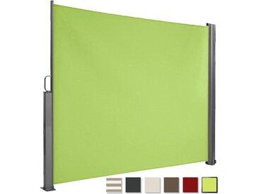 Brubaker Seitenmarkise Maui für Balkon und Terrasse Ausziehbar Aluminium grün 300 x 180 cm