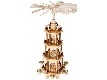 Brubaker Weihnachtspyramide aus Holz 4 Etagen 60 cm Höhe handbemalte Figuren