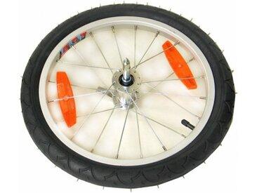 """Burley 160015 Laufrad 16"""" Alu QR Reflektoren für Anhänger mit Ausfallende, silber/grau (1 Stück)"""