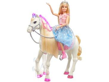 mattel Barbie Prinzessinnen Abenteuer Tanzendes Pferd mit Prinzessin Puppe, Licht & Geräuschen